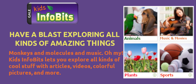 Explore Amazing Things in Kids InfoBits! This link to an exterior site opens in a new window.